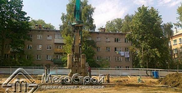 Устройство стены в грунте для жилого дома по адресу: г. Красногорск ул. Вокзальная мкр. 4 в 11 г.